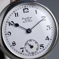 """Thumbnail FS: 1910's Rolex Silver Trench Watch with """"Dunklings"""" Double Name Porcelain Dial 4"""