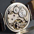 """Thumbnail FS: 1910's Rolex Silver Trench Watch with """"Dunklings"""" Double Name Porcelain Dial 8"""