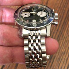 20mm Beads of Rice ends fill out large chrono lugs well