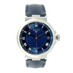 FS: Excellent Breguet Marine Blue Dial White Gold on a strap.