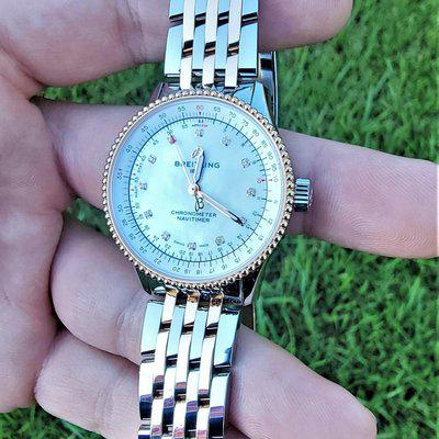 Breitling Navitimer Automatic 35 Two Tone 18k Rose Gold