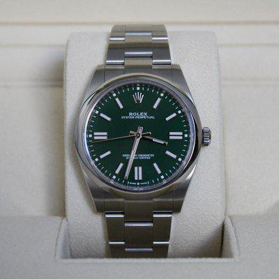 FSOT: BNIB Rolex 124300 Oyster Perpetual 41mm Green Dial - September Dated!