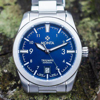 [WTS] Monta Triumph blue dial, full kit with tool-less microadjust bracelet, $1150 shipped