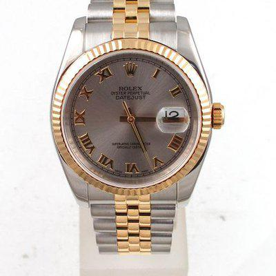 FS:Rolex Two Tone Datejust 36MM With Grey Roman Dial And Jubilee Band Model#116233