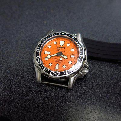 For sale or trade Chris Benz Deep 500m WR orange dial Miyota 8215 Auto movement $235