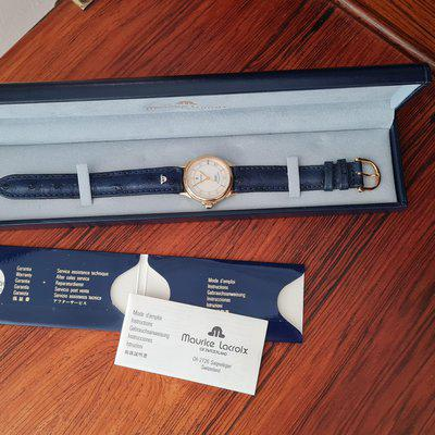 FS, MAURICE LACROIX day date automatic with box papers Perfect gift