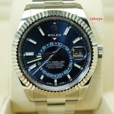 FSOT:Rolex 326934 SKY-DWELLER STAINLESS STEEL BLUE DIAL OYSTER BAND WARRANTY FULL SET