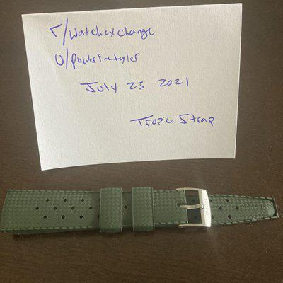 [WTS] *Canada only* genuine Tropic strap, mint condition, green