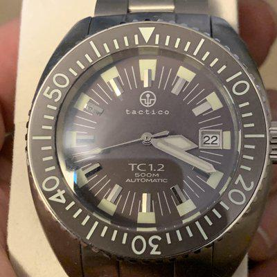 Tatctico/Crepas TC1.2 mocha dial like new awesome lume on bracelet box papers etc. this thing in mint worn twice 500M $450