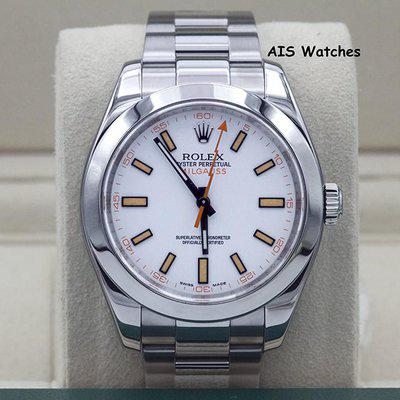 FSOT: Rolex Milgauss 116400 White Dial M Serial Box & Papers