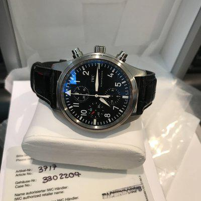 IWC 3717 42MM Chronograph Stainless Steel Black dial