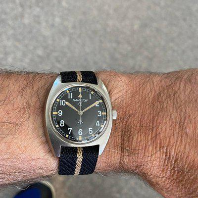 [WTS] Hamilton W10 British Ministry of Defense Field Watch, 1973. Excellent
