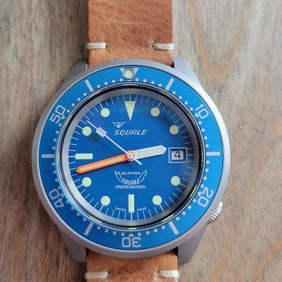 [WTS] Squale 1521 50 Atmos Matte Blue Dial Bead Blasted - Full Kit - Worn Once!