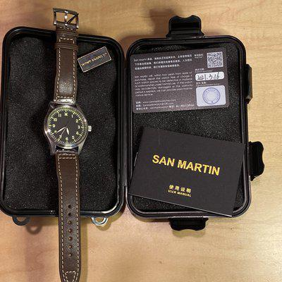 BNIB with stickers intact San Martin Type-A Pilot Watch 39mm