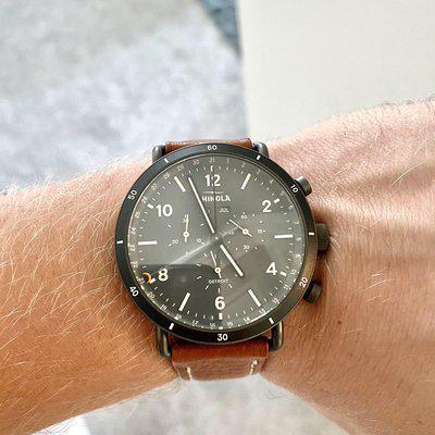 [WTS] Shinola Canfield Sport Chronograph 45mm grey dial full kit in excellent condition with additional Shinola leather band- $600 usd
