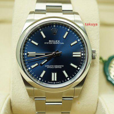 FSOT:BNIB Rolex 124300 OYSTER PERPETUAL NEWER BLUE DIAL 41MM 2021 COMPLETE SET