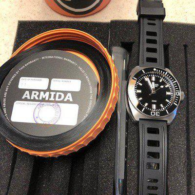 FS Armida A7 SS Black Dial No Date with Ceramic Bezel