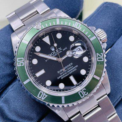 Rolex Submariner 16610LV Kermit (Serviced, Box and Papers, M serial Engraved)