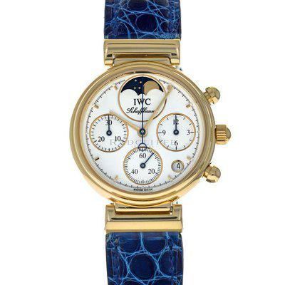 IWC IW3735 DaVinci 18 Karat Yellow Gold Quartz Chronograph
