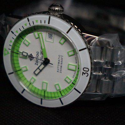 [WTS] Zodiac Super Sea Wolf 53 Compression Automatic Neon Stainless Steel Watch - NIB