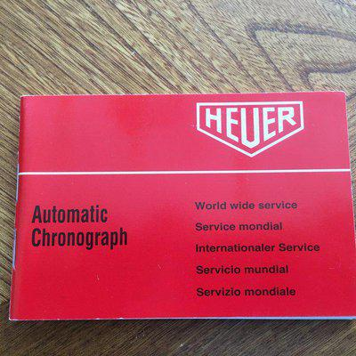 Service book Heuer Chronograph Automatic