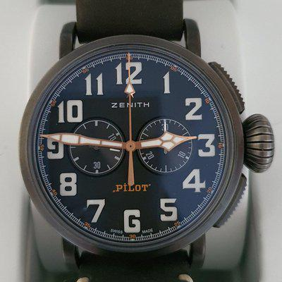 Zenith Pilot Type 20 Chronograph Ton Up schwarz aged steel   Referenz: 11.2432.4069/21.C900