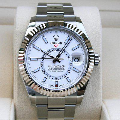 FS: Rolex 326934 Skydweller White Dial Box and Paper 2021
