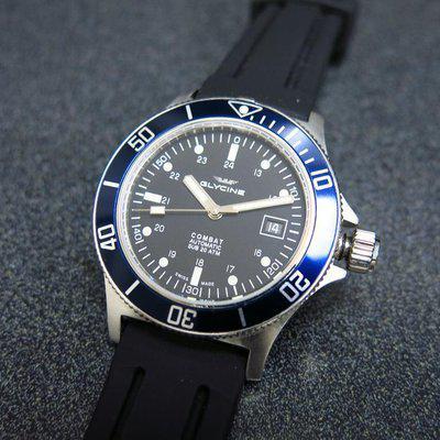 For sale Glycine Combat Sub GL0094 black dial blue bezel
