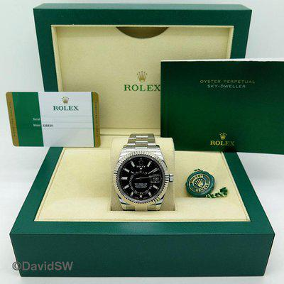 FS: Rolex 326934-SKYDWELLER STAINLESS STEEL-BLACK DIAL