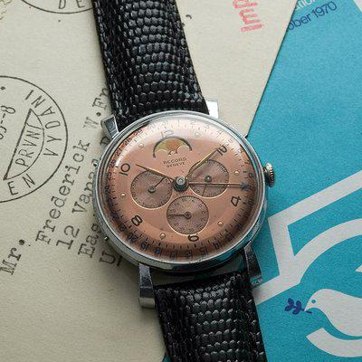FS: Reduced Record Datofix Salmon Dial Moon Phase