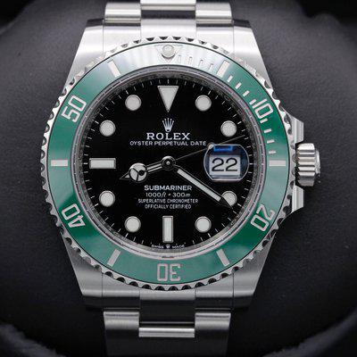 """FSOT: Rolex Submariner 41 Date - 126610lv - """"Cermit"""" - Stainless Steel - 41mm - New"""