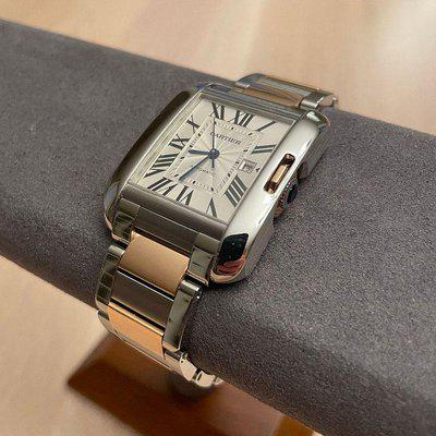 Cartier Tank Anglaise large 18k rose/SS