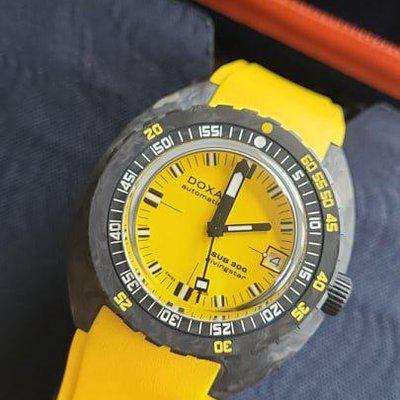 FSOT: Doxa Sub 300 Divingstar Forged Carbon (822.70.361.31) Dive Watch - Yellow, 42mm, Recent Purchase (September 2021) - $3,475