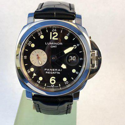 FS: Rare Luminor Panerai PAM156 GMT Marina Regatta Limited Edition 2002. 44mm Stainless Steel, Automatic. Newer & Final Price Reduction