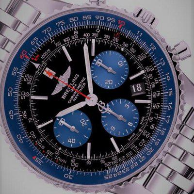 BREITLING NAVI BLUE LTD EDITION NUMBERED FULL SET COMPLETE BOX/PAPERS 5500.00