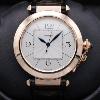 FSOT: Cartier Pasha - Rose Gold - XL - Model 2700 - Silver Dial - 42mm - MINT