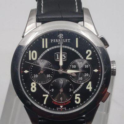 [WTS] Perrelet Chronograph Big Date Steel on Strap with Black Dial A1008/3