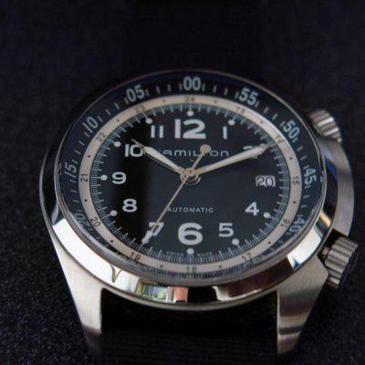SOLD - Hamilton Pioneer pilot twin crowns automatic