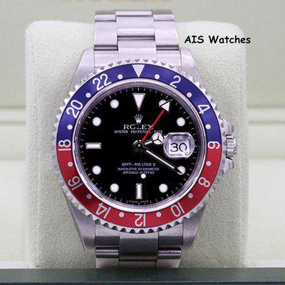 FSOT - Rolex GMT Master II 16710 Z Serial Pepsi Insert Box & Papers