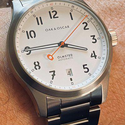 FSO: Oak & Oscar Olmsted with white sandwich dial – strap monster