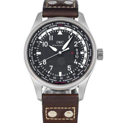 FS- IWC Worldtimer IW3262 Black Dial Box and Papers