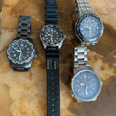 FS: Collection of 4 Citizen watches $350 or best offer