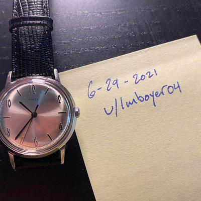 [WTS] Timex Marlin reissue 34mm hand wound champagne/silver