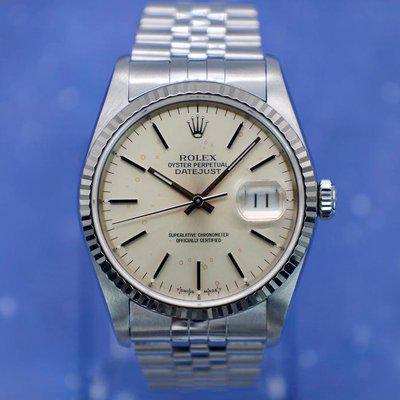 FS: 1993 Rolex Datejust Ref. 16234   Silver Speck Dial   Papers