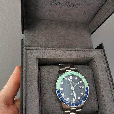 [WTS] Zodiac Super Sea Wolf GMT - Hodinkee LE (repost). $1250 priced to sell!