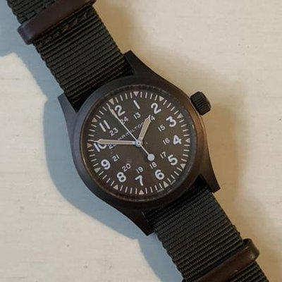 """Sold: Hamilton Khaki Mechanical 38mm """"Earth"""" PVD - US only"""