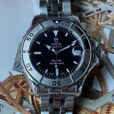 FS:Tudor Prince Date Hydronaut Stainless Steel Automatic Black 85190