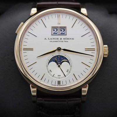 FSOT: A. LANGE & SÖHNE - Saxonia Moonphase - Rose Gold 40mm - Like New 2021