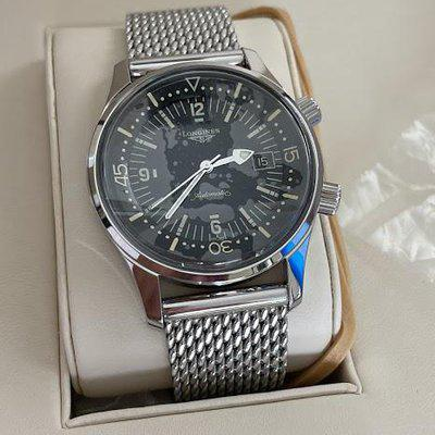 FS: Longines Heritage Legend Diver 42mm Watch with Stainless Steel Bracelet