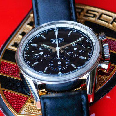 FS:  Heuer Carrera 1964 Re-Edition CS3111 Black Dial, Box and Papers